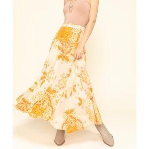 NWT Free People Farah Drop Waist Skirt